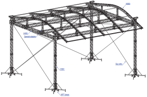 CLT roof structure
