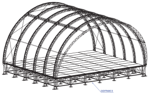 Tunnel roof structure
